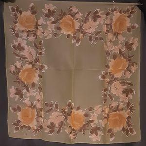1960's Mid Century floral Vera Neumann scarf